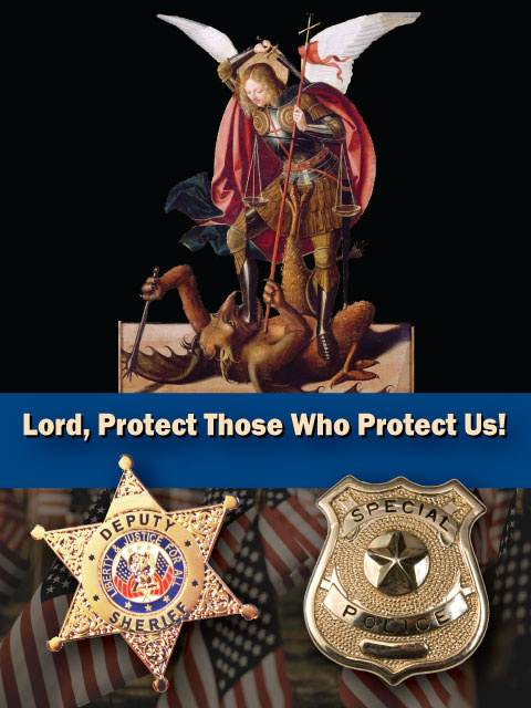 law enforcement prayer card