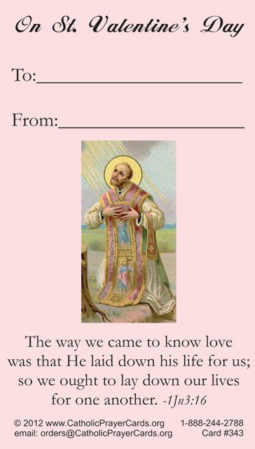 catholic prayer cards st therese of lisieux st joseph our lady of guadalupe sacred heart of jesus john paul the great support missionary work - Valentine Prayer