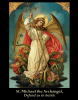 St. Michael the Archangel Defend Us In Battle Prayer Card 3x4 Inches