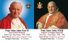 ** ENGLISH ** Special Limited Edition Collector's Series Commemorative Pope John Paul II & Pope John XXIII Canonization Prayer Card