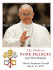 Pope Francis Prayer Card