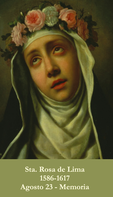 *SPANISH* St. Rose of Lima Prayer Card