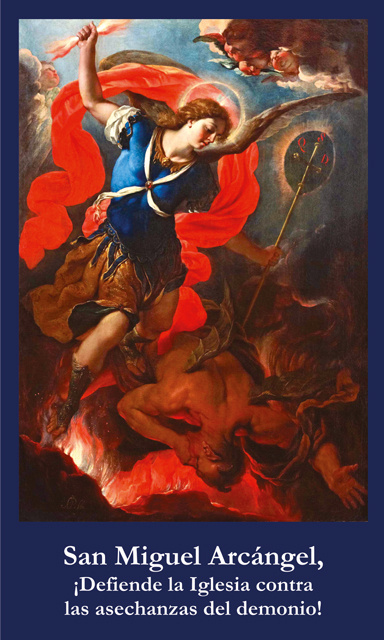 St. Michael the Archangel Spanish Prayer Card***ONEFREECARDFOREACHCARDORDERED***