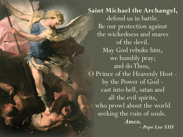 Parish Pew Cards - St. Michael / Vocations Prayers After Mass (LARGE)