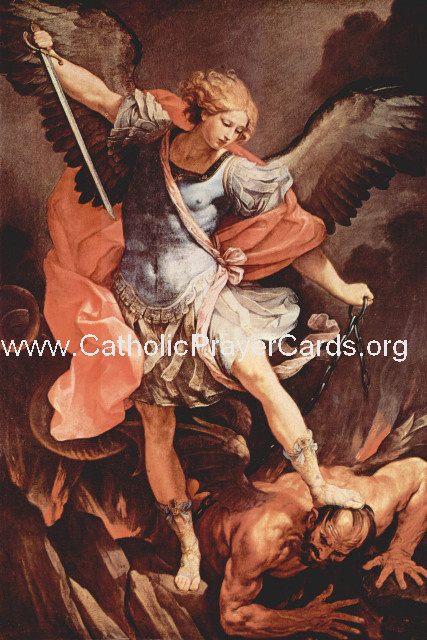 *BILINGUAL* St. Michael Prayer (Latin/English) (LARGE)
