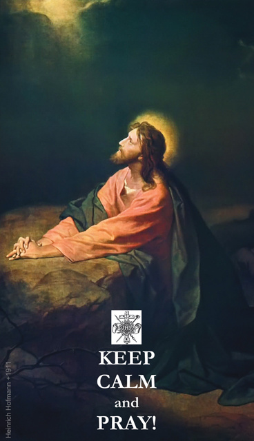 Good Friday Keep Calm & Pray - Our Father Prayer Card