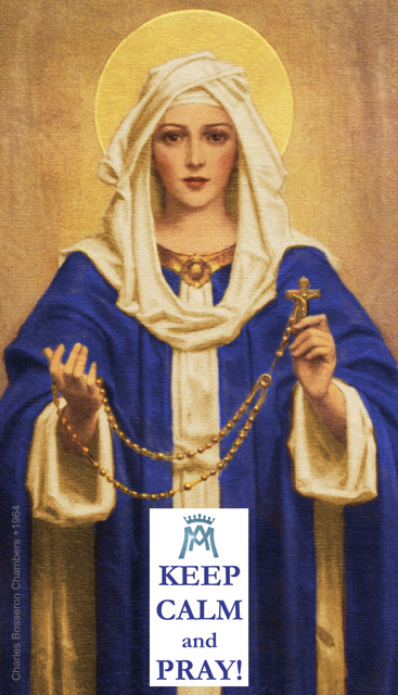 Keep Calm & Pray - Hail Mary Prayer Card***ONEFREECARDFOREVERYCARDYOUORDER***
