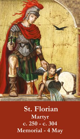 St. Florian Prayer Card