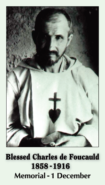Blessed Charles de Foucauld Prayer Card