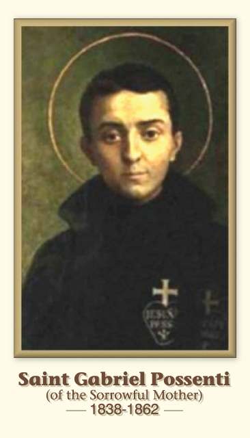 St. Gabriel Possenti Prayer Card