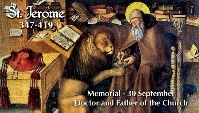 St. Jerome Prayer Card
