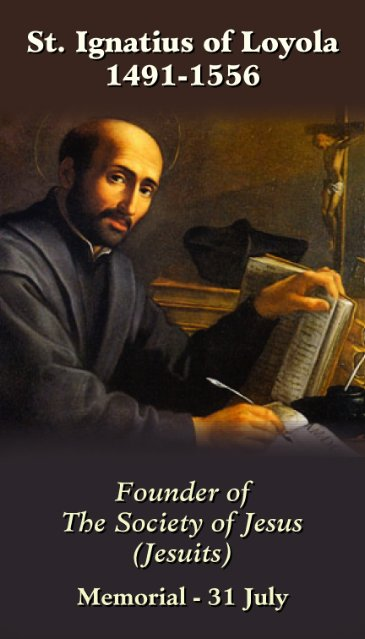 St. Ignatius of Loyola Prayer Card