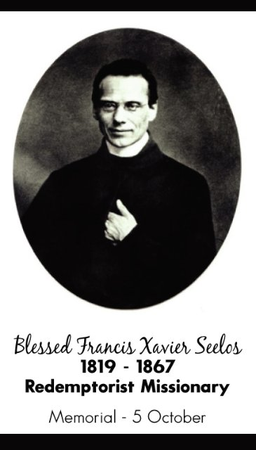 Blessed Francis Xavier Seelos Prayer Card