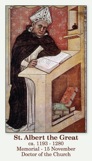 St. Albert the Great Prayer Card