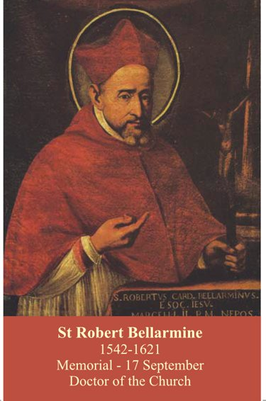 St. Robert Bellarmine Prayer Card