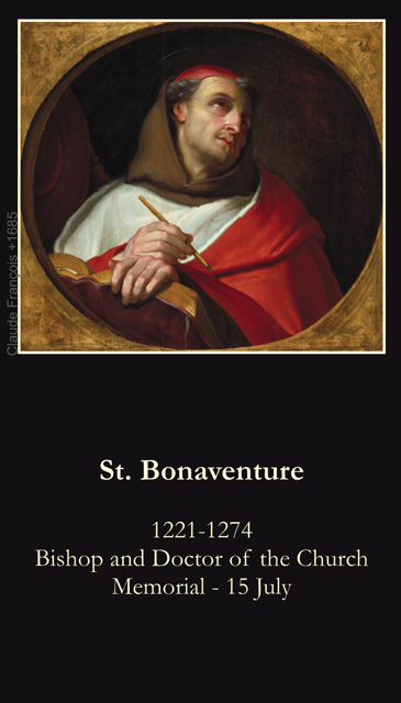 St. Bonaventure Prayer Card
