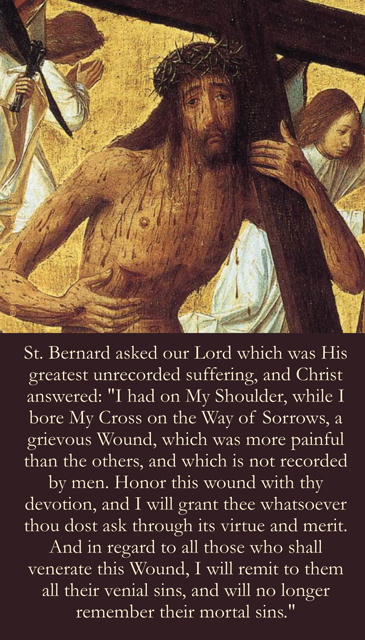 Shoulder Wound of Christ Prayer Card