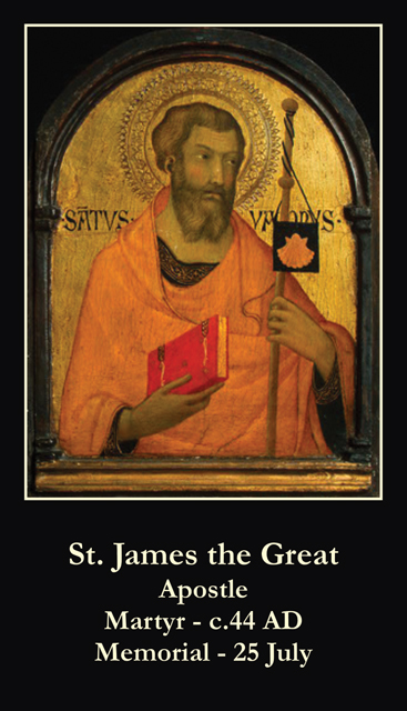 St. James the Greater Prayer Card