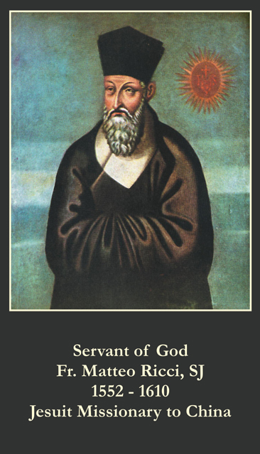 Servant of God - Fr. Matteo Ricci Prayer Card