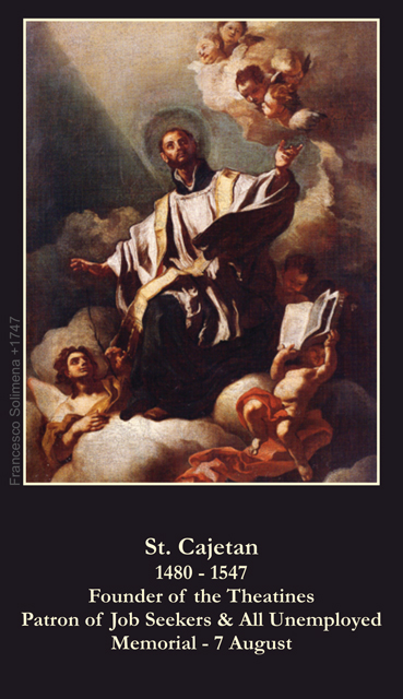 St. Cajetan Prayer for the Unemployed Card***ONEFREECARDFOREVERYCARDYOUORDER***