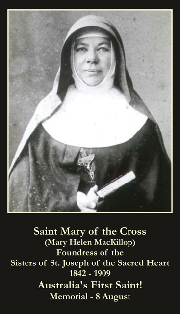 St. Mary MacKillop Prayer Card-FOUNDER OF TEACHING ORDER OF NUNS