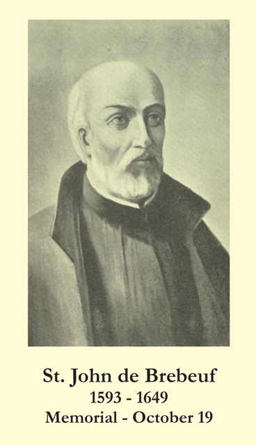 St. John de Brebeuf Prayer Card