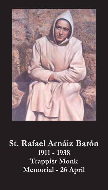 St. Rafael Arnaiz Baron Prayer Card
