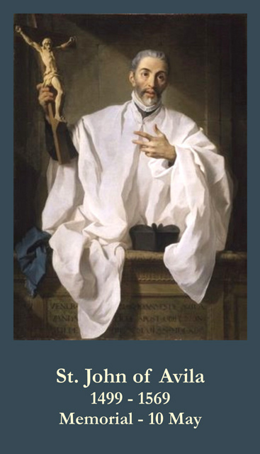 St. John of Avila Prayer Card