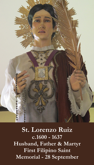 St. Lorenzo Ruiz Prayer Card