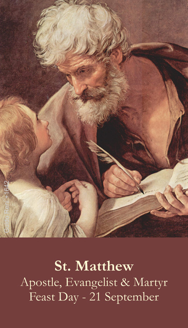 St. Matthew Prayer Card