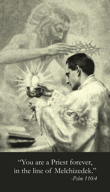 Life of a Priest Prayer Card - Lacordaire