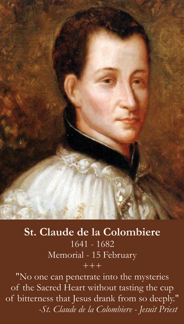 St. Claude de la Colombiere Prayer Card