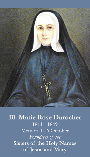 Blessed Marie Rose Durocher Prayer Card-FOUNDER OF TEACHING ORDER OF NUNS