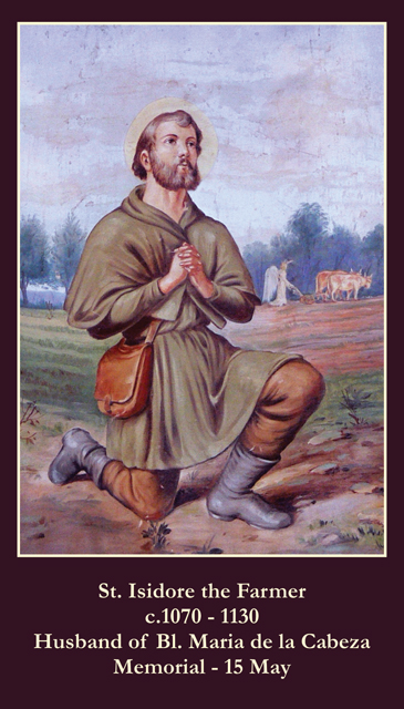 St. Isidore the Farmer Prayer Card