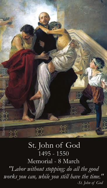 St. John of God Prayer Card