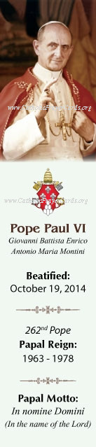 ***ON-SALE***CLOSEOUT***Special Limited Edition Collector's Series Commemorative Pope Paul VI Beatif
