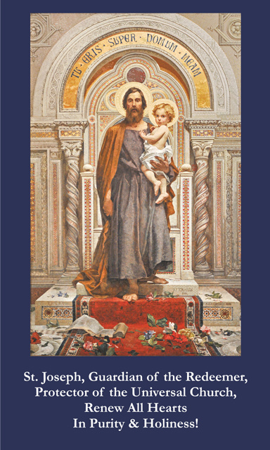 St. Joseph Prayer for Protection & Renewal of the Church