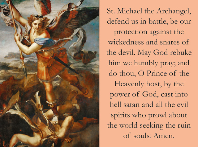 St. Michael and Sub Tuum Praesidium Prayer Card for the Church in Crisis