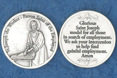 St. Joseph the Worker (for unemployed) Pocket Coin