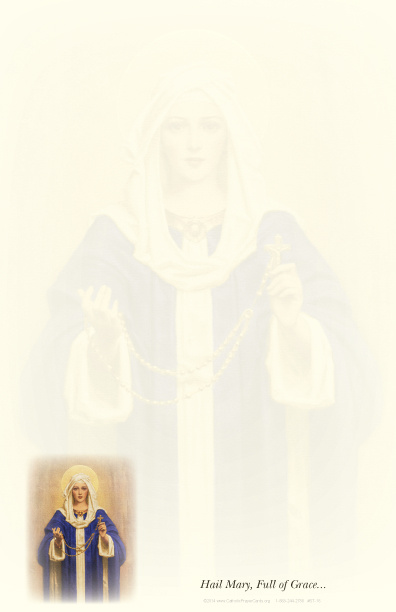 Virgin Mary with Rosary Stationery