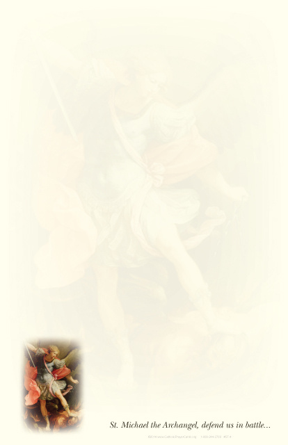 SEPTEMBER 29th: St. Michael the Archangel Stationery***BUYONEGETONEFREE***