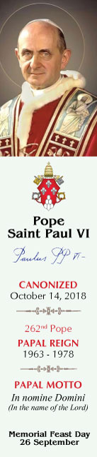 Special Limited Edition Collector's Series Commemorative Pope Paul VI Canonization Bookmarks