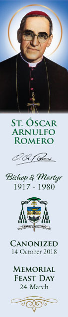Special Limited Edition Collector's Series Commemorative St. Oscar Romero Canonization Bookmarks