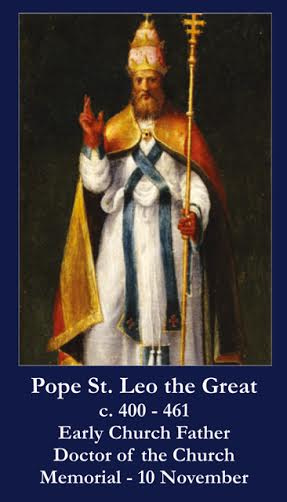 Pope Saint Leo the Great Prayer Card