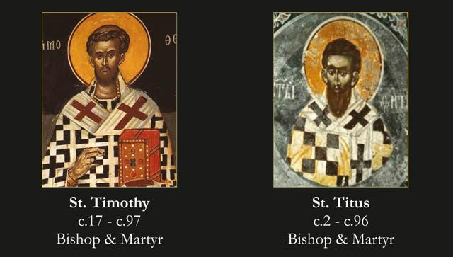 Saints Timothy and Titus Prayer Card