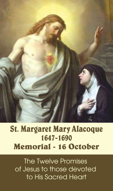 *LARGE* St. Margaret Mary Alacoque Prayer Card
