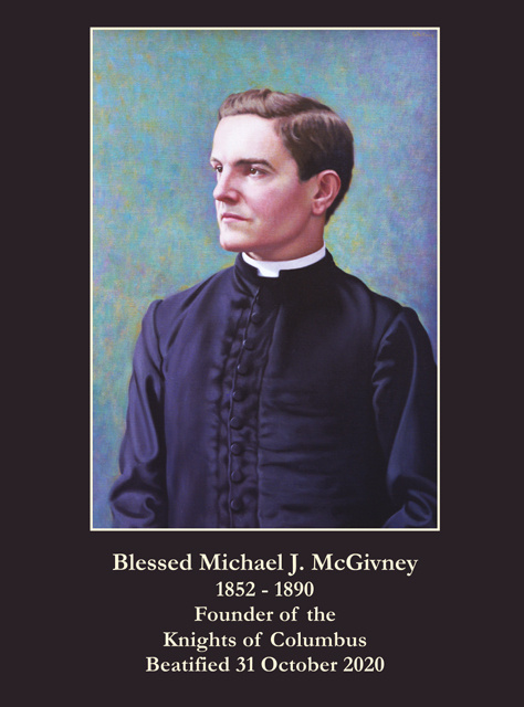 Venerable Michael J. McGivney Prayer Card