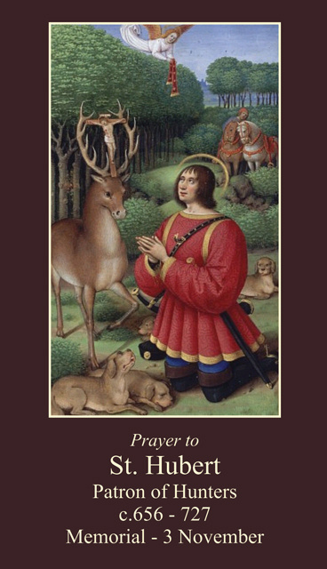 St. Hubert Prayer Card