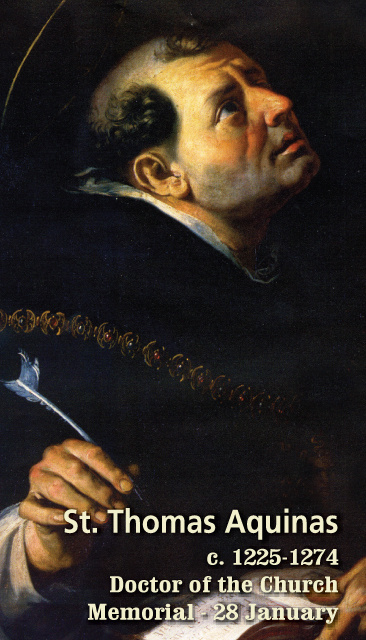 St. Thomas Aquinas Prayer Card