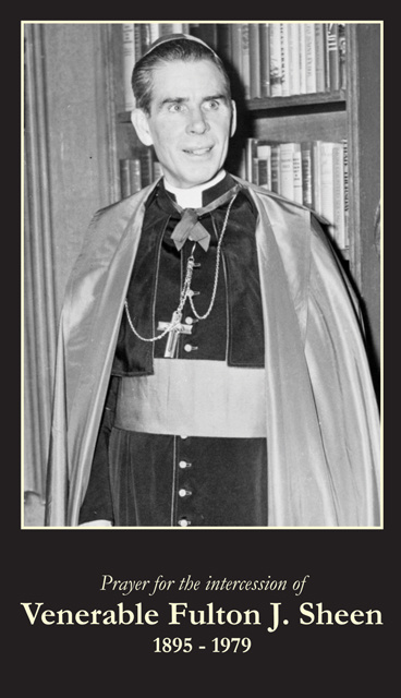 Archbishop Fulton J. Sheen Beatification Prayer Card